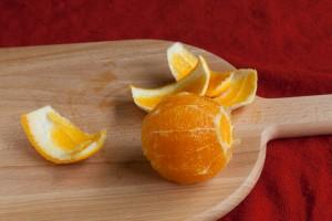 De sinaasappel zonder schil