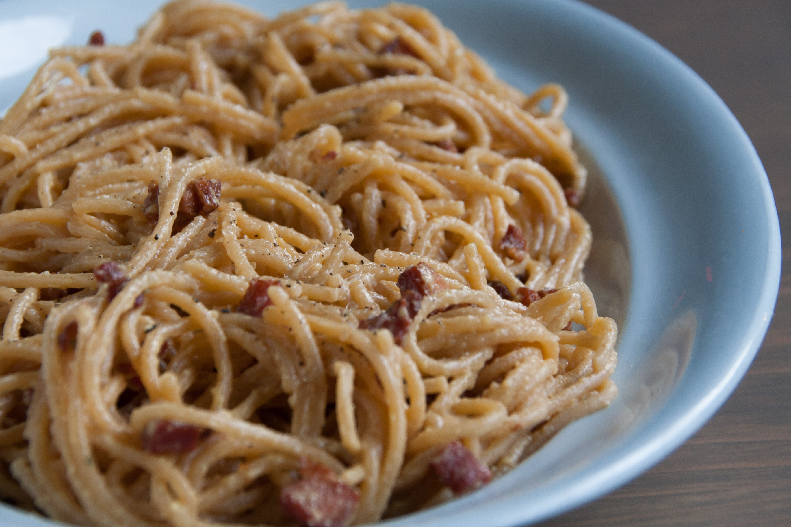 Traditionele pasta carbonara