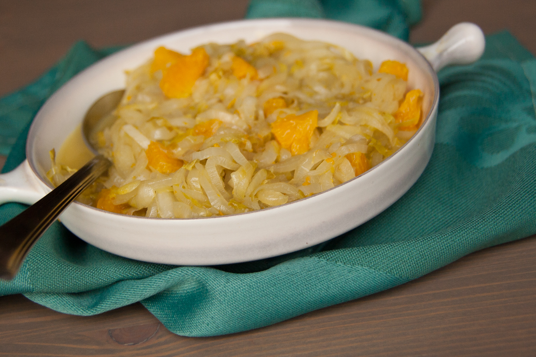 witlof met sinaasappel en honing