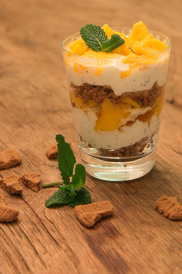Mango trifle | vegetarisch voorgerecht kerstmenu