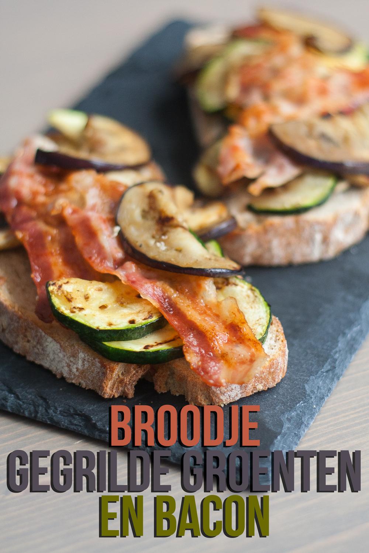 broodje geroosterde groenten bacon
