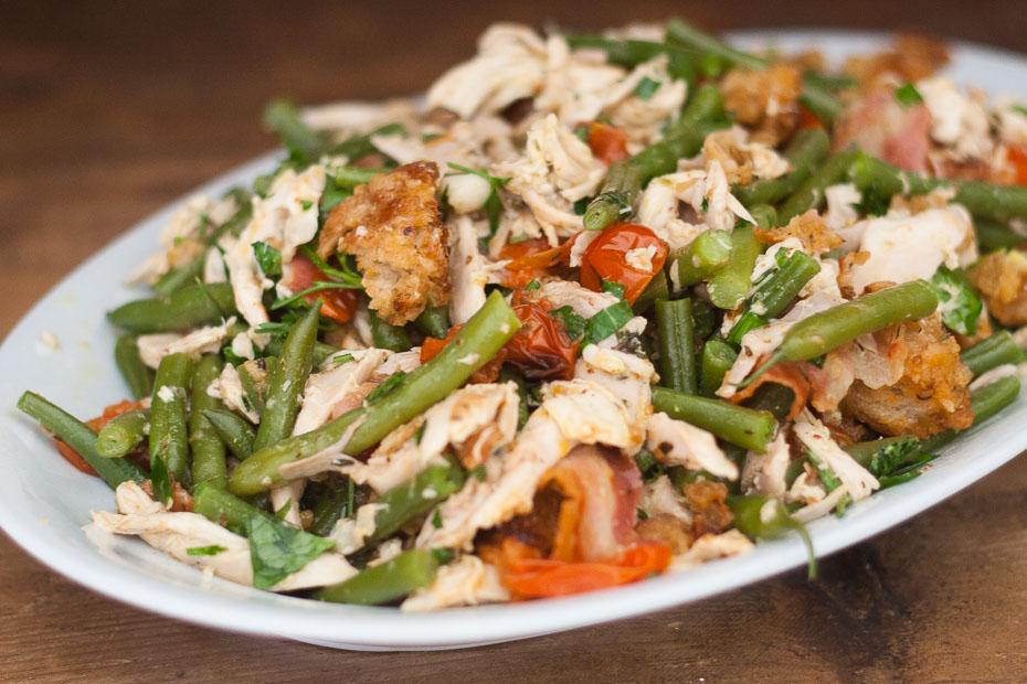 Geroosterde kip salade