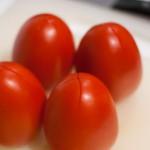 tomatenrisotto kruislings insnijden