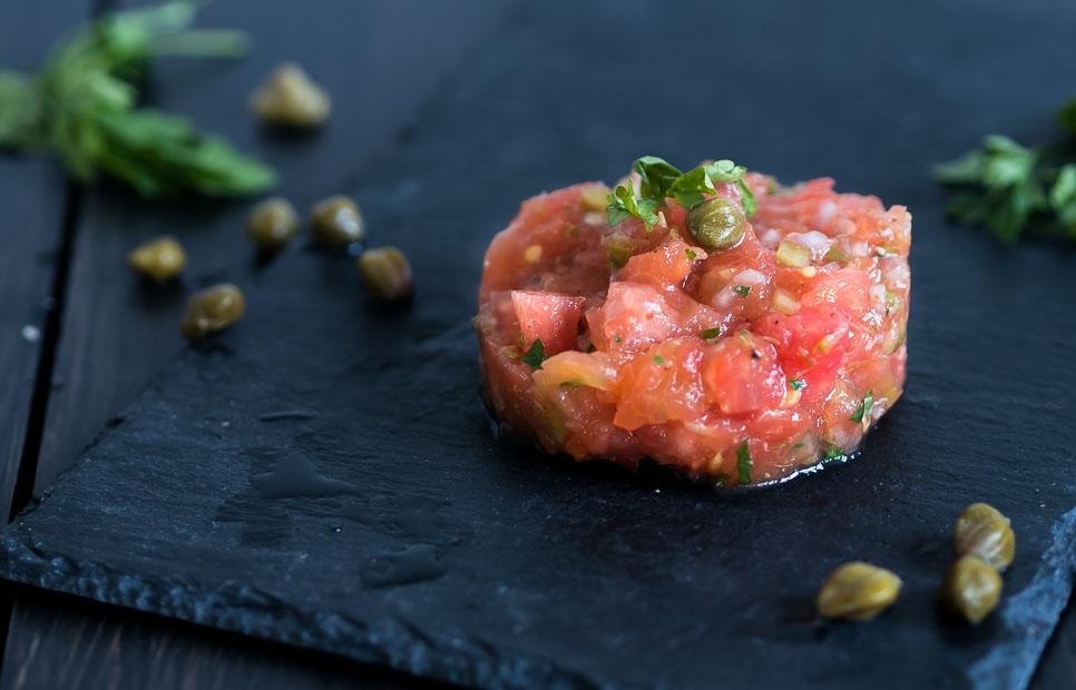Vegetarisch voorgerecht kerst : tomatentartaar
