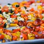pastasalade met geroosterde groente