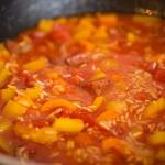 Snelle paella met chorizo