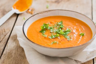 Zoete aardappel paprika soep | Snelle keuken