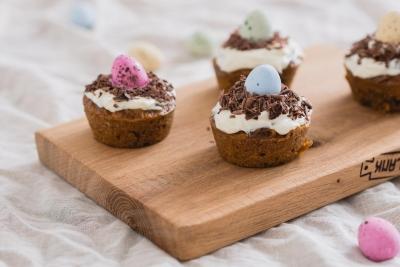 Carrot cupcake nestjes